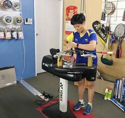 SKY badminton racket restring services