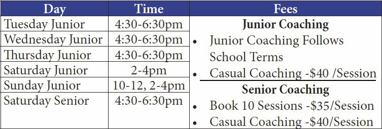 Coaching-fee-schedule